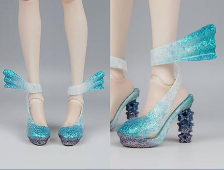 3D printed Heels Jel Nail art
