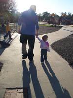 Father, Daughter Walking by o0oTamaraStocko0o