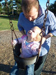 Father, Daughter Swinging by o0oTamaraStocko0o