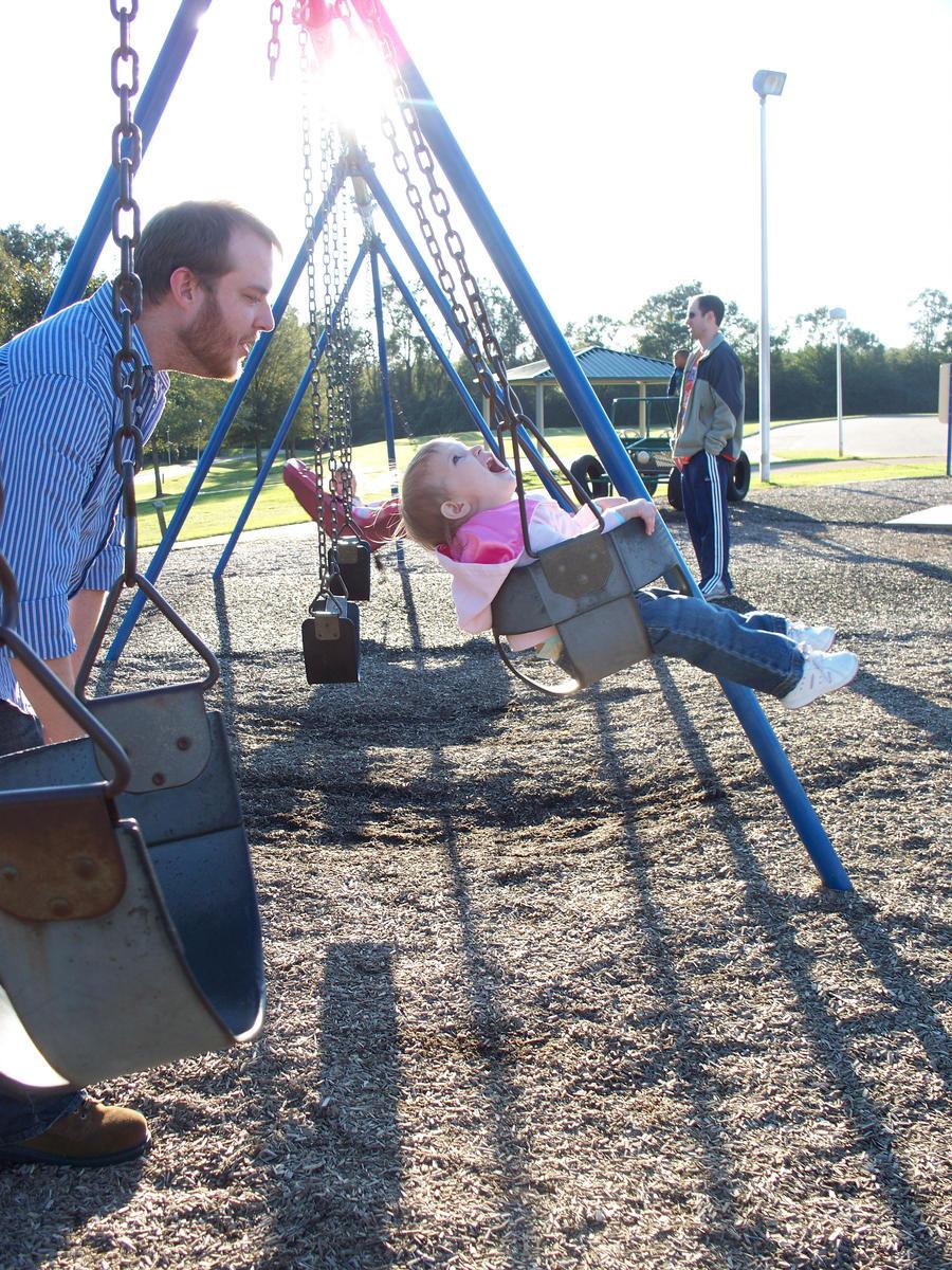 Father, Daughter Swinging 2 by o0oTamaraStocko0o