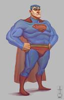 Sketch - Superman by JuandaMR