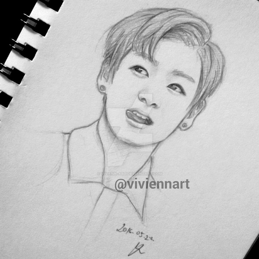 Jungkook Bts Drawings: BTS: Jungkook Drawing By Vivienn-art On DeviantArt
