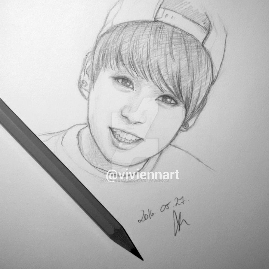 BTS Jungkook Drawing By Vivienn-art On DeviantArt