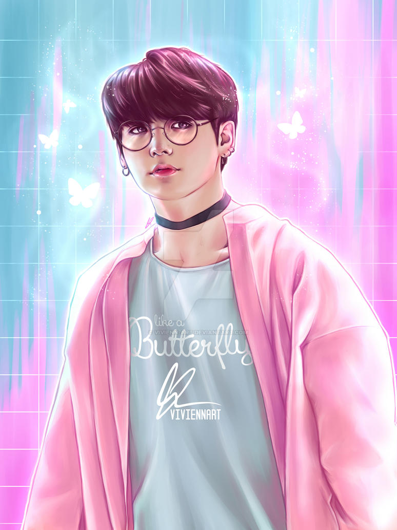 bts  jungkook  like a butterfly  by vivienn art db7jthc