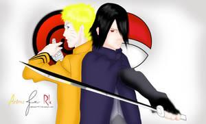 Naruto and Sasuke from Boruto movie Coloring