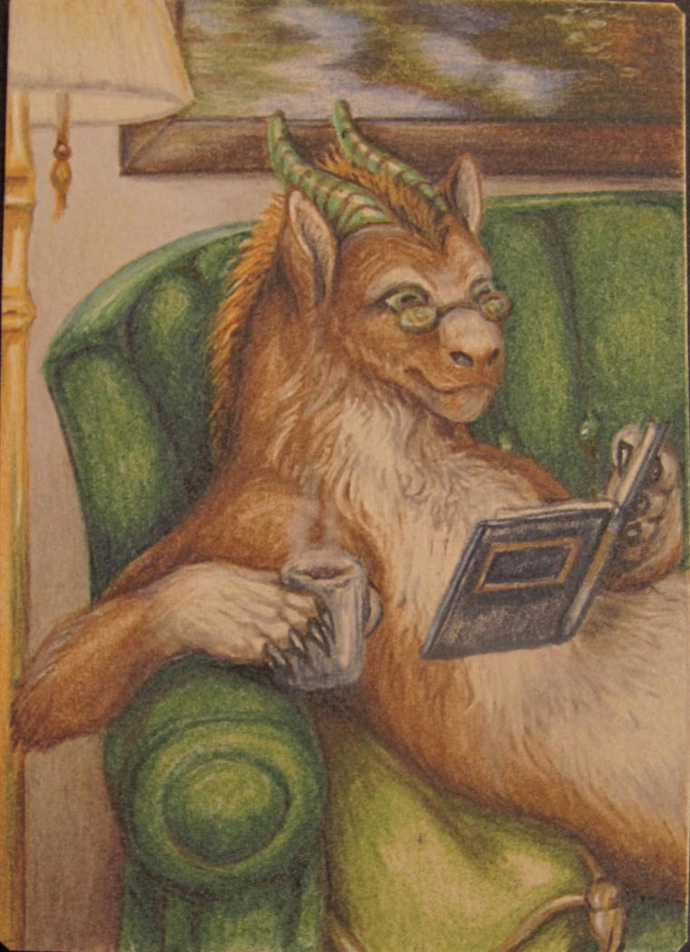 February ACEO trade for Tashgoose by teiirka