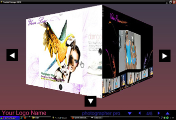 3D Portfolio Flash Template by Flash-Gallery-Net
