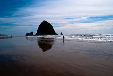 Cannon Beach - Haystack Rock by rwlux83