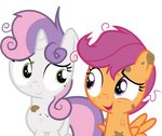 Scootaloo and Sweetie Belle