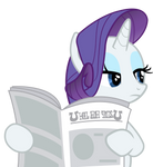 Rarity reading a newspaper
