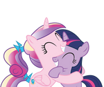 Cadence and Twilight hugs