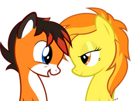 Xyro and Spitfire by JoeMasterPencil