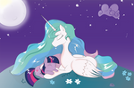 Princess Celestia and Twilight Sparkle
