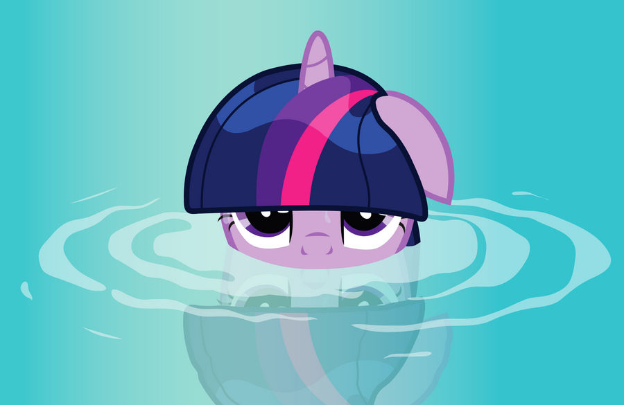 Twilight Sparkle in water