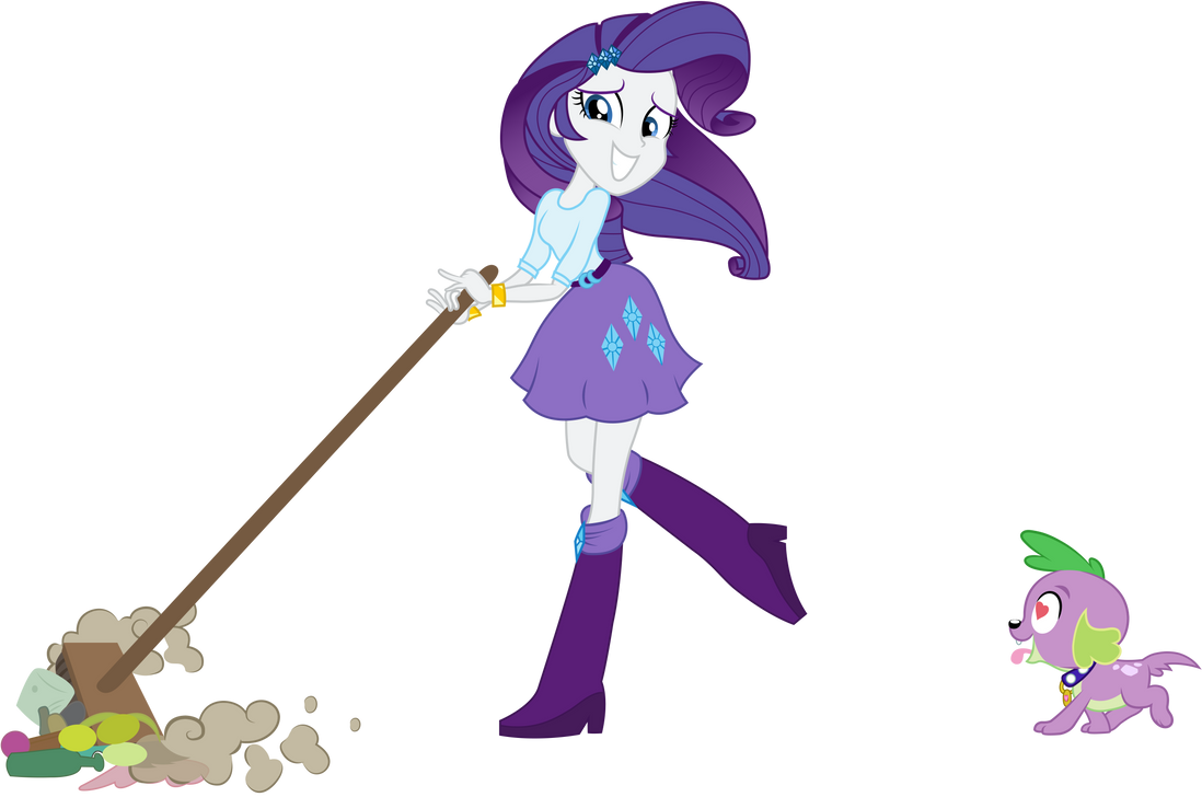 Equestria Girls Rarity Spike  Cleaning and love by