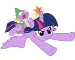 Twilight and Spike  - We coming to you!