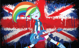 Equestria Girls Rainbow Dash - Rock Revolution