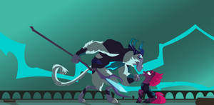 The Storm King and Tempest Shadow wallpaper by JoeMasterPencil