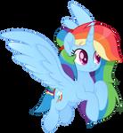 Princess Rainbow Dash vector moviestyle