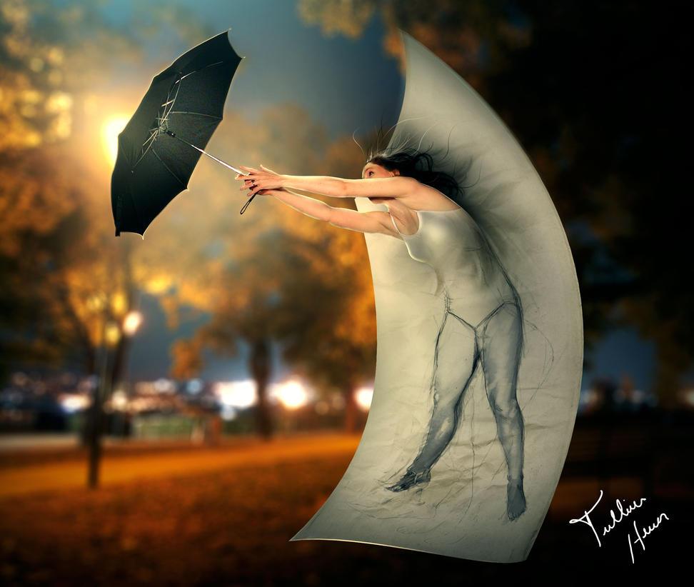 Save me, umbrella! by Iskander1989