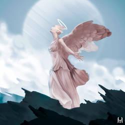 Painting Study - Angel Statue