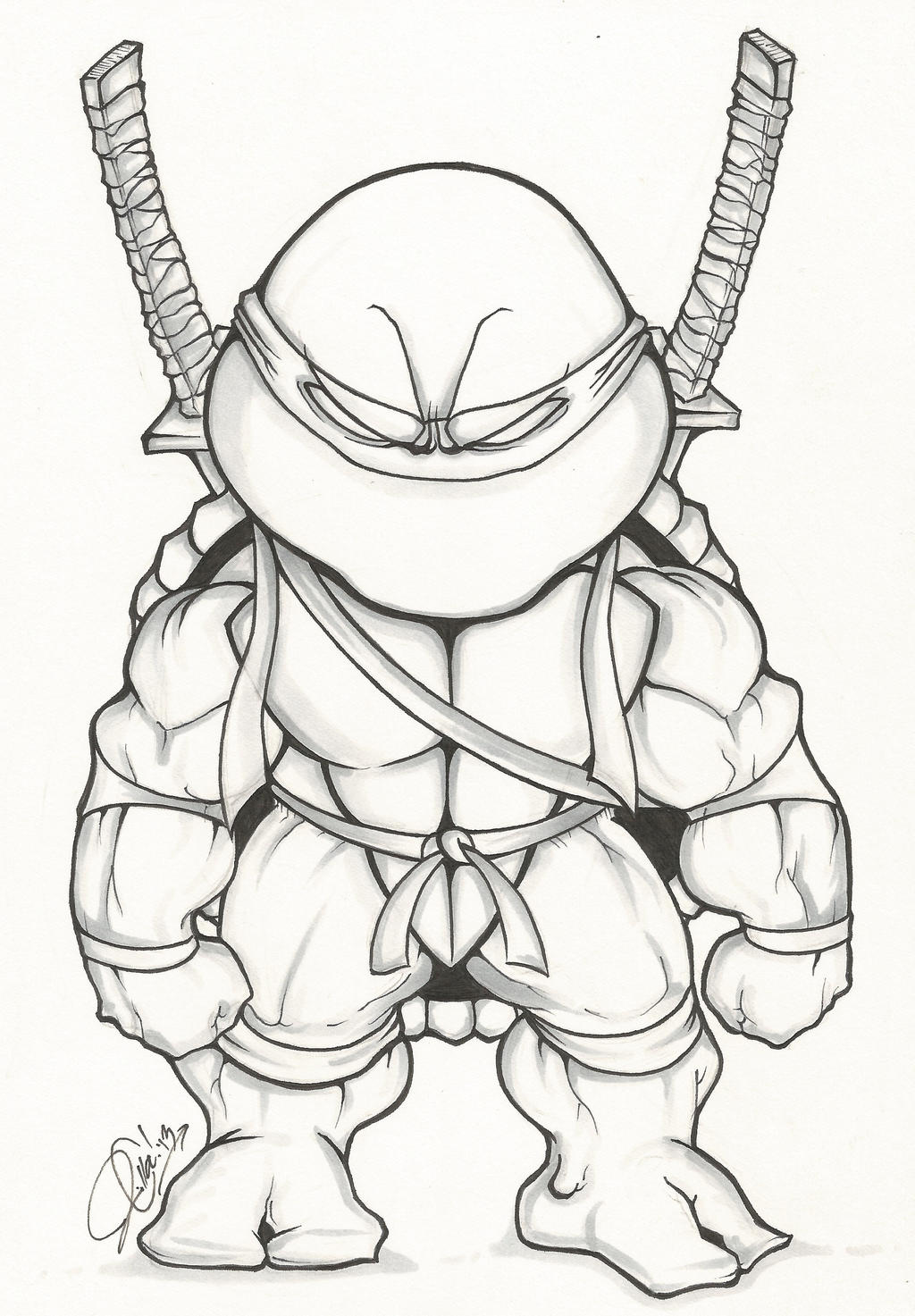 Ninja turtle drawing raphael