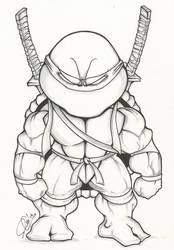TMNT Chibi: Leonardo by dendeone