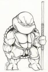 TMNT Chibi: Donatello by dendeone