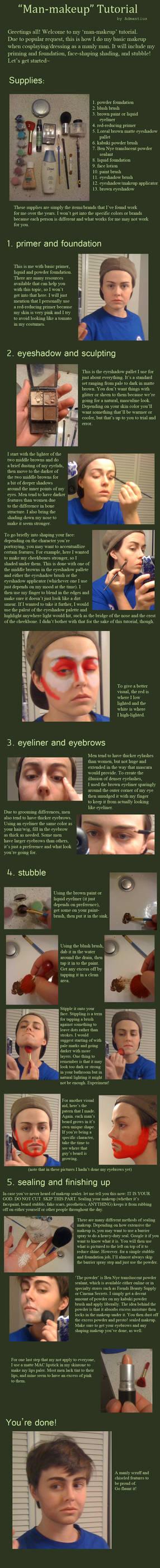 'Man-Makeup' and Stubble Tutorial