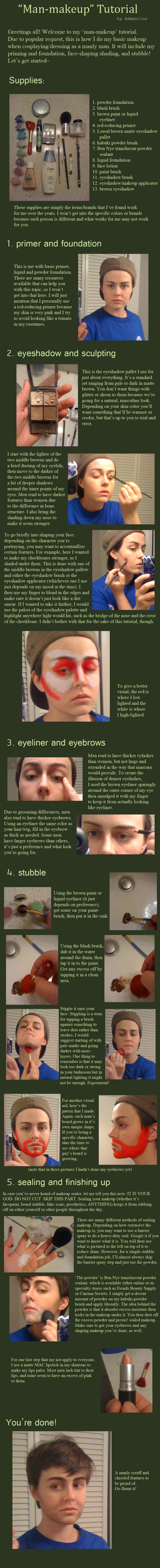 'Man-Makeup' and Stubble Tutorial by Admantius