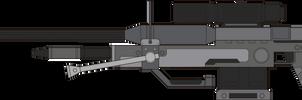 Halo 3. Sniper Rifle. Left Side