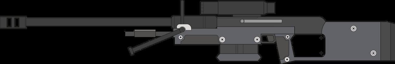 Halo: Combat Evolved. Sniper Rifle. Left Side