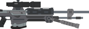 Halo Reach. Sniper Rifle. Right Side