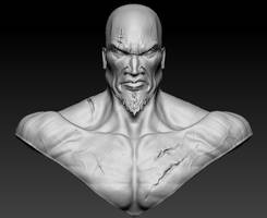 Kratos - God of War 3D Face