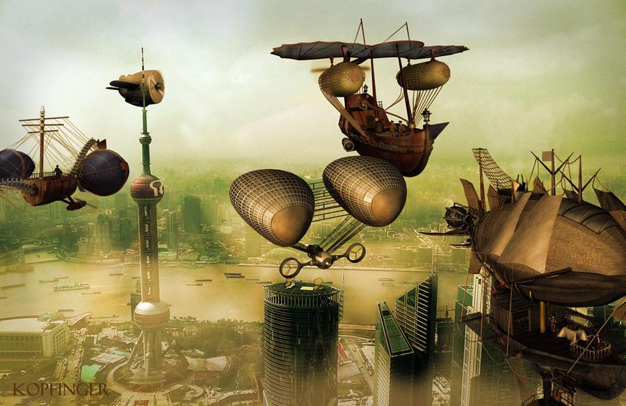 Airship-Race by Kopfinger