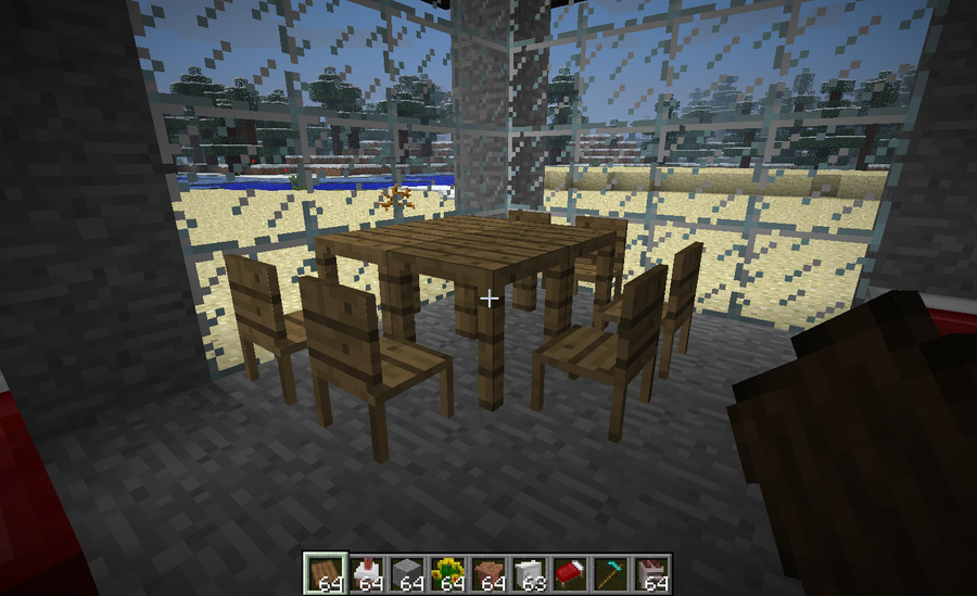 Table and chair in minecraft by gunnarcool on deviantart for Minecraft coffee table