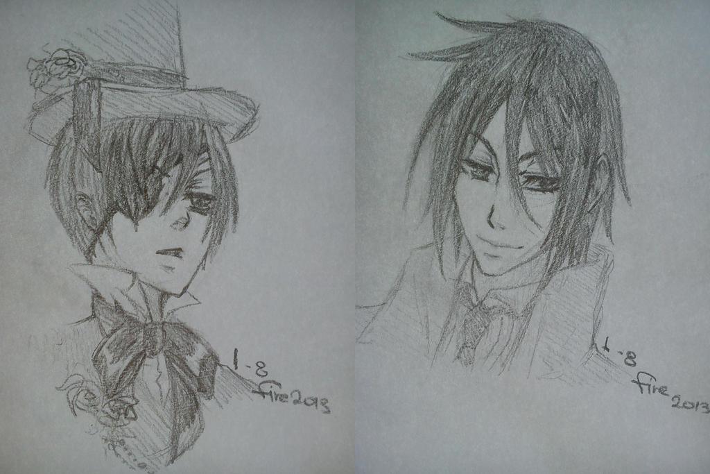 Kuroshitsuji Sketches by Firedragon2009
