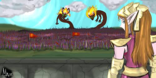 Battle of Hyrule Field by UndyingNephalim