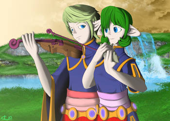 Study - Fado and Saria by UndyingNephalim