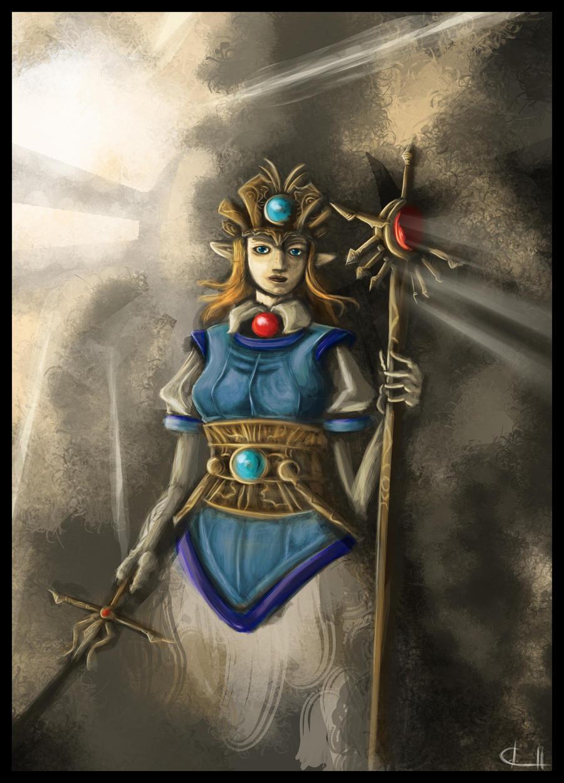 Princess Zelda I by UndyingNephalim