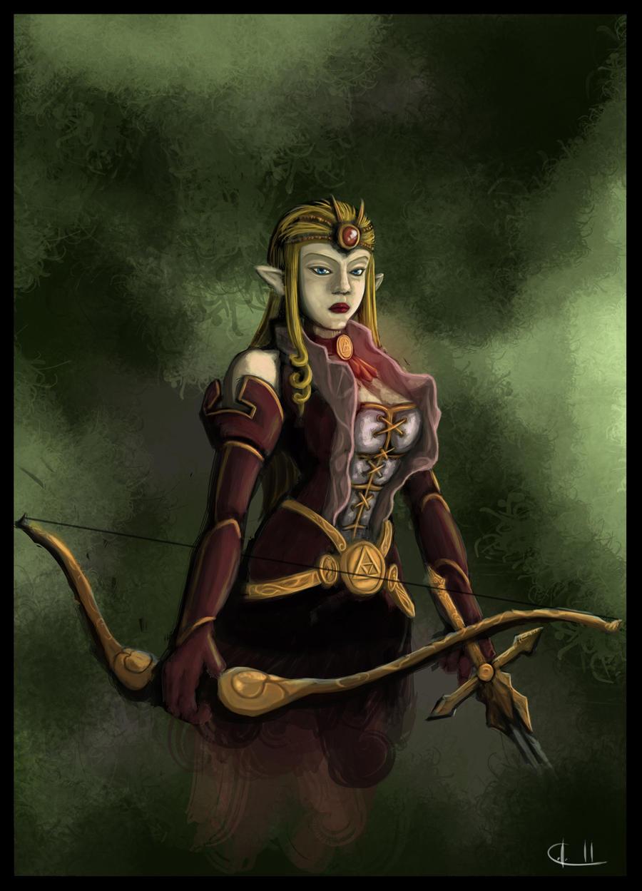Princess Zelda II by UndyingNephalim