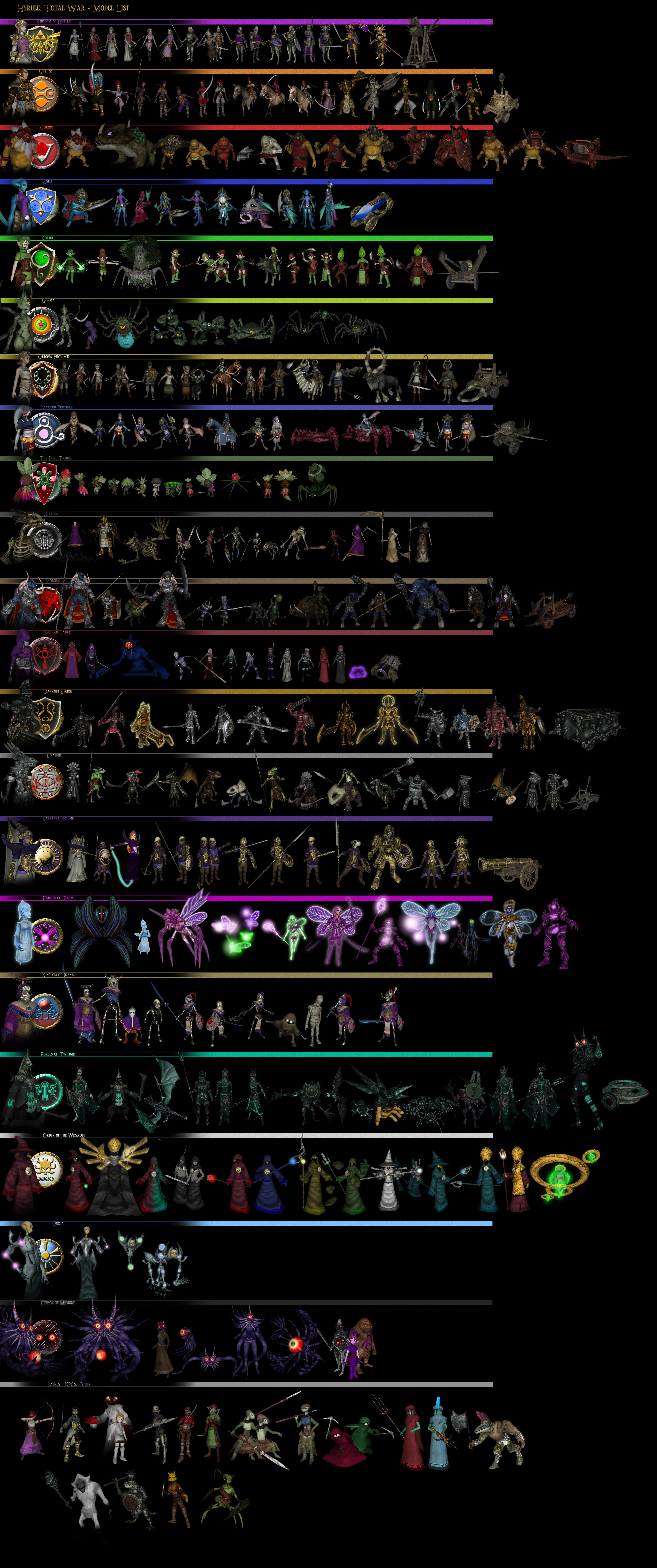 Hyrule: Total War - Model List by UndyingNephalim