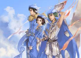 Blue berets by ruttian