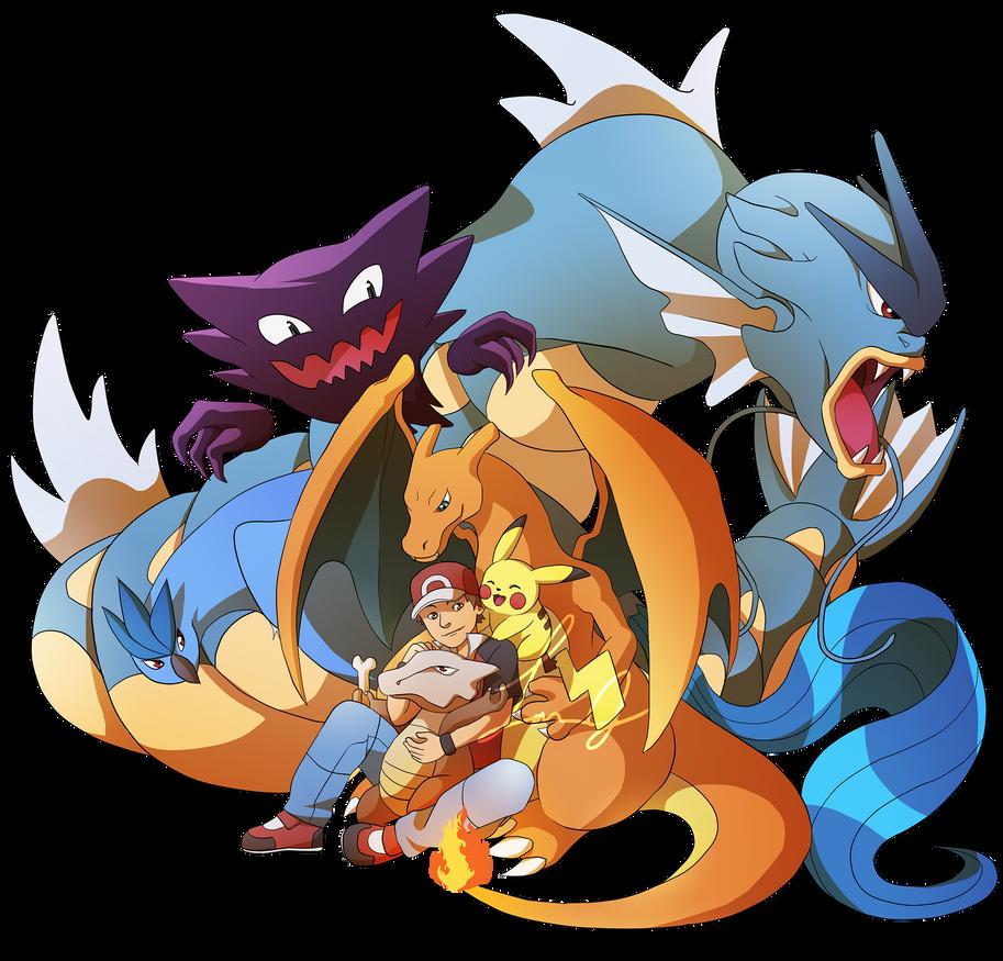 Pokemon Yellow Team by ShortieBat