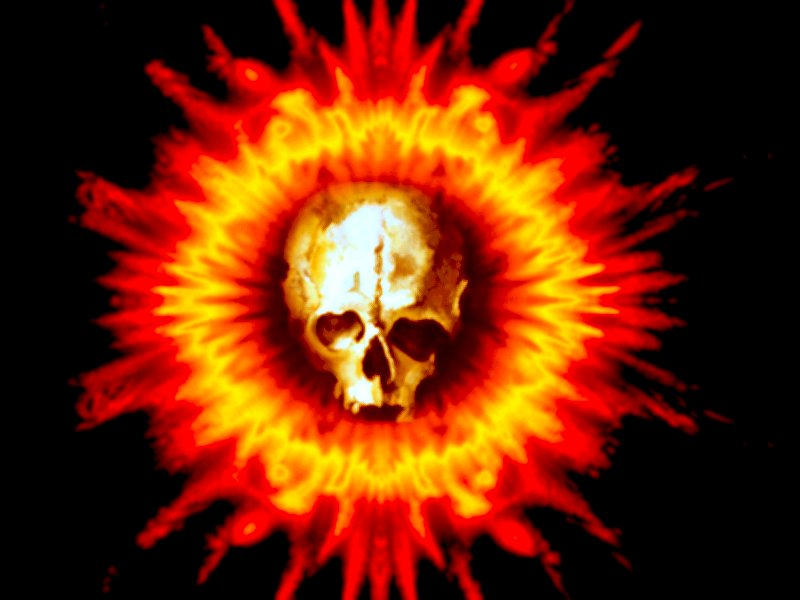 Flaming Skull Flower by aristocrat
