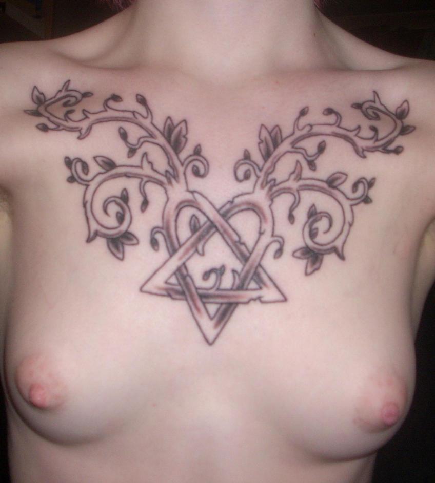 New HIM tattoo - chest tattoo