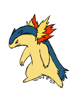 Typhlosion Sketch Commission