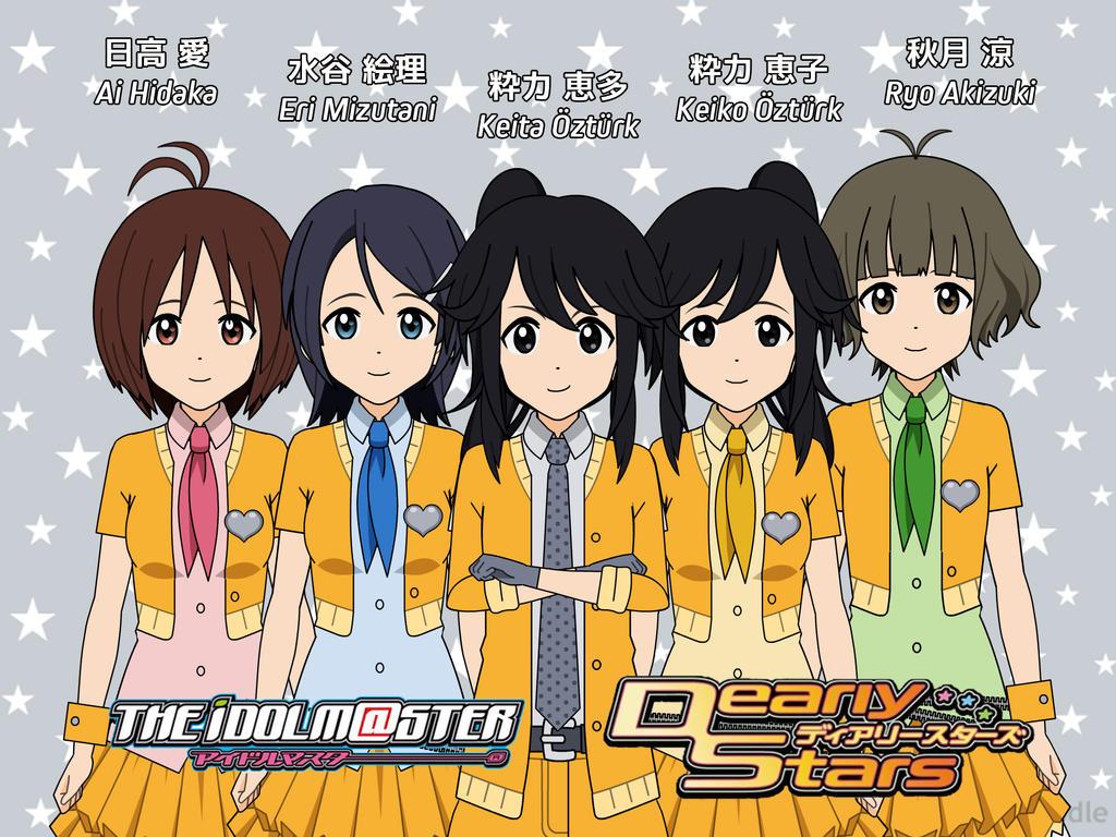 Dearly Stars + OCs, IdolM@ster Kisekae 1st version by YDK-Qazaqstan