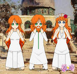 Sacred Family praying in Jerusalem, PriPara OC's