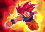 Son Goku SSJ GOD by ByGhostEduard